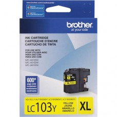 Cartucho Original Brother LC103Y amarelo CX 01 UN