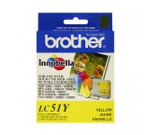 Cartucho Original Brother LC51Y amarelo CX 01 UN