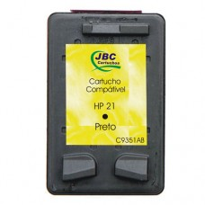 Cartucho Compatível HP 21 preto - 7ml - CX 01 UN