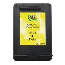 Cartucho Compatível HP 74 preto - 6ml - CX 01 UN