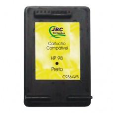 Cartucho Compatível HP 98 preto - 11ml - CX 01 UN