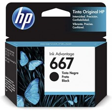 Cartucho Original HP 667 preto - 2ml - CX 01 UN