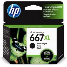 Cartucho Original HP 667XL preto - 8,5ml - CX 01 UN