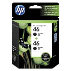 Cartucho Original HP 46 preto duplo - 26ml cada - CX 02 UN