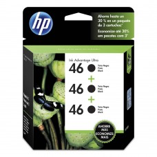 Cartucho Original HP 46 preto triplo - 26ml cada - CX 03 UN