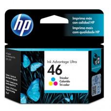 Cartucho Original HP 46 colorido - 16ml - CX 01 UN