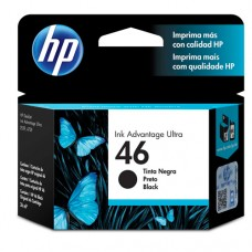 Cartucho Original HP 46 preto - 26ml - CX 01 UN