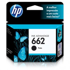 Cartucho Original HP 662 preto - 2ml - CX 01 UN