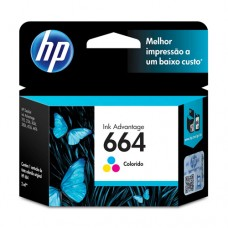 Cartucho Original HP 664 colorido - 2ml - CX 01 UN
