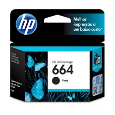 Cartucho Original HP 664 preto - 2ml - CX 01 UN