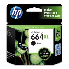 Cartucho Original HP 664XL preto - 8,5ml - CX 01 UN