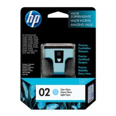 Cartucho Original HP 02 ciano claro - 5,5ml - CX 01 UN
