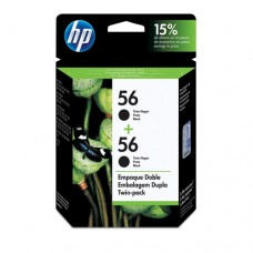 Cartucho Original HP 56 preto duplo - 19ml cada - CX 02 UN