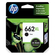 Cartucho Original HP 662XL preto - 6,5ml - CX 01 UN