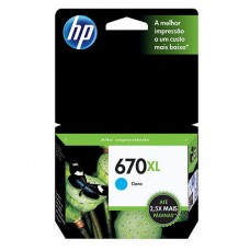Cartucho Original HP 670XL ciano - 7,5ml - CX 01 UN