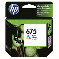 Cartucho Original HP 675 colorido - 9ml - CX 01 UN