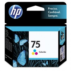 Cartucho Original HP 75 colorido - 6ml - CX 01 UN