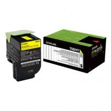 Toner Original Lexmark 70C8HY0 amarelo CX 01 UN