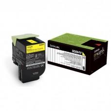 Toner Original Lexmark 80C8HY0 amarelo CX 01 UN
