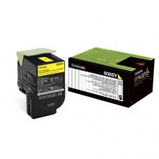 Toner Original Lexmark 80C8SY0 amarelo CX 01 UN