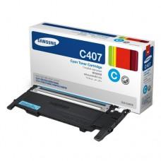 Toner Original Samsung C407 ciano - CLT-C407S - CX 01 UN